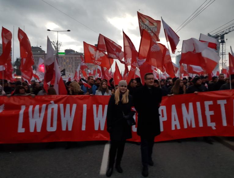 Марш националистов в Польше (видео)