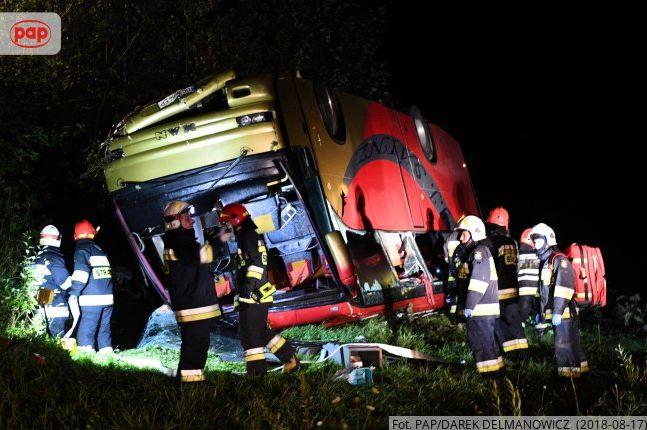 Автобус с украинцами попал в ДТП