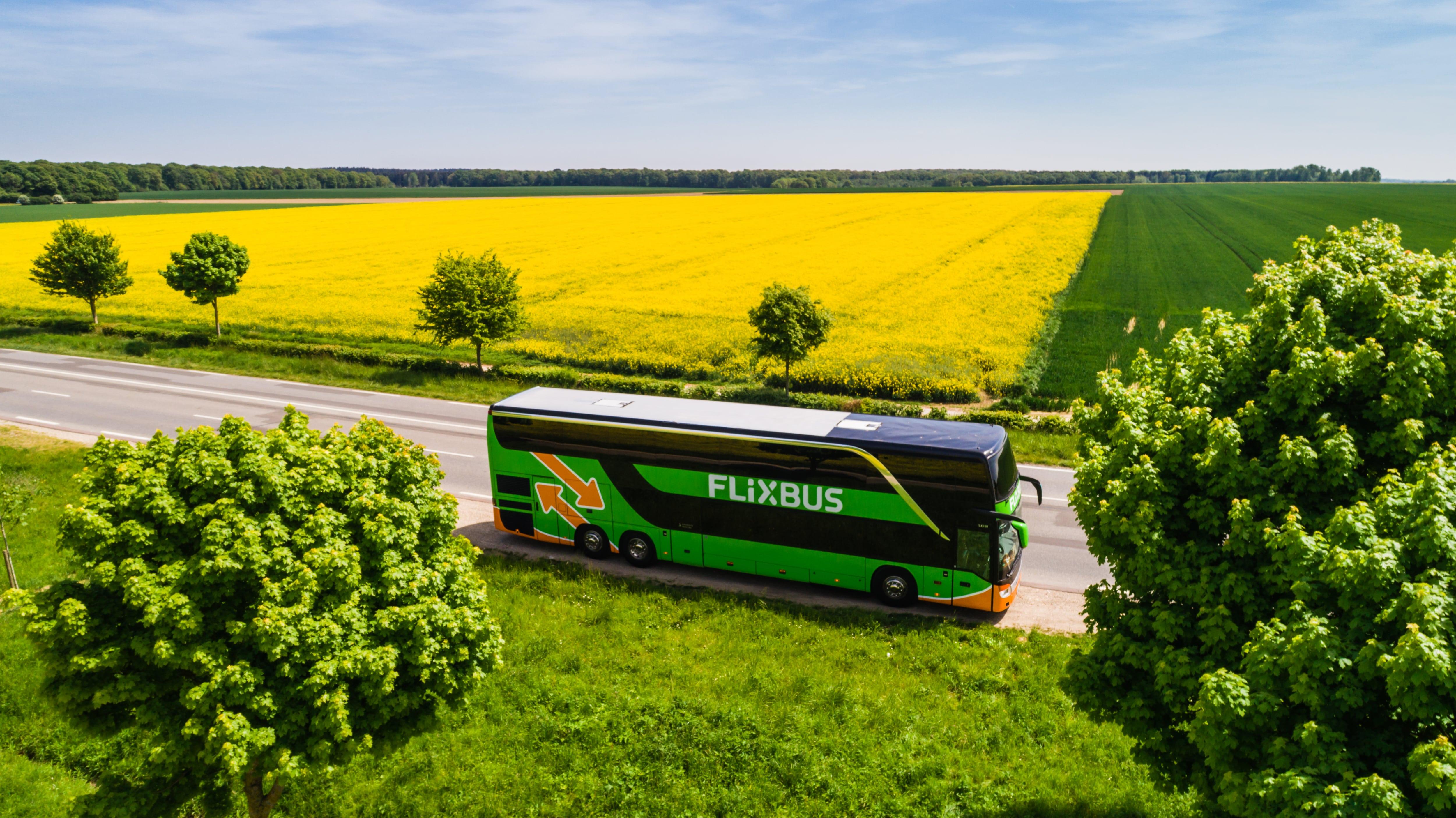 Маршруты от 5 евро, от автобусного лоукостера FlixBus
