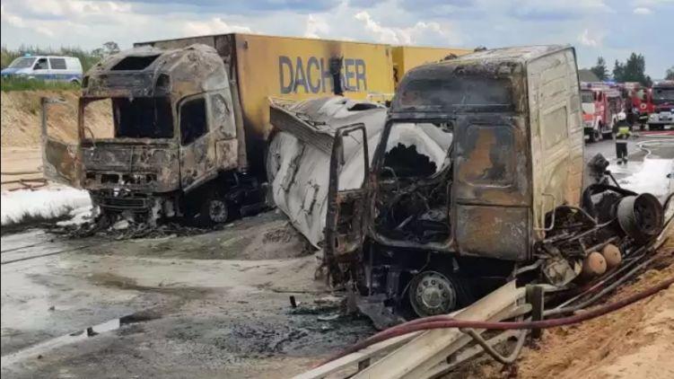 ДТП в Польше. Более 30 пострадавших